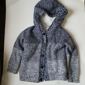Toddler boys warm lined sweater hoodie